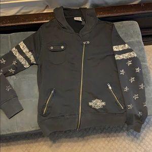 Harley Davidson zip-up hoodie size L